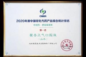 太极集团荣登2020年OTC生产企业榜单多产品排名榜首
